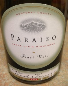 2008 Paraiso Vineyards West Terrace Pinot Noir