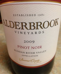 2009 Alderbrook Vineyards Russian River Valley Pinot Noir