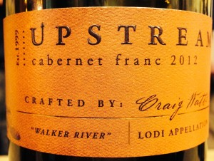 2012 Upstream Cabernet Franc Lodi Appellation
