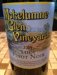 Mokelumne Glen Vineyards 2009 Pinot Noir