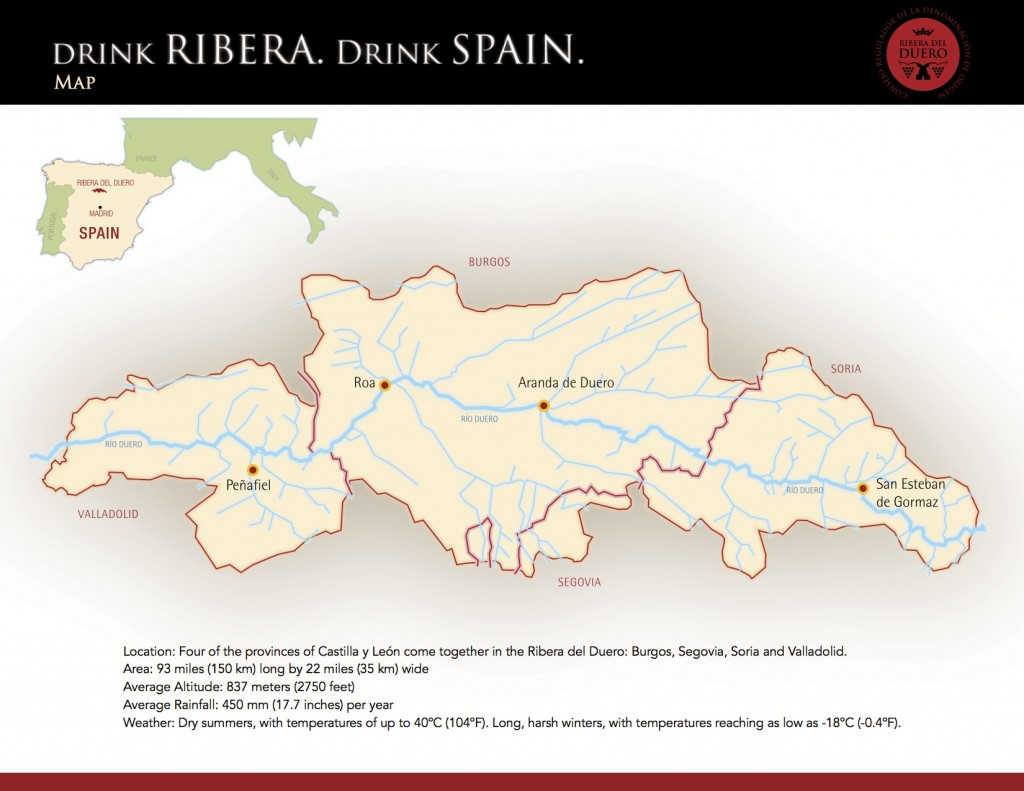 Map of Ribera del Duero DO