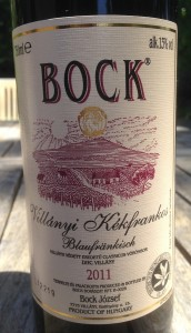 2011 Bock Kekfrankos