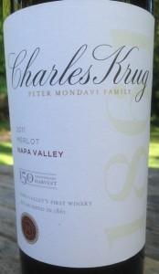 2011 Charles Krug Napa Valley Merlot