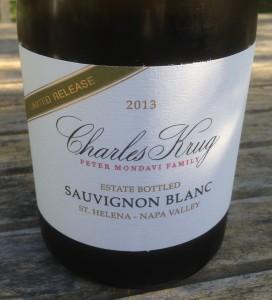 2013 Charles Krug Limited Release Estate Sauvignon Blanc