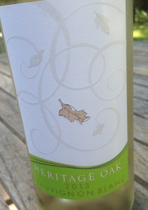 2013 Heritage Oak Sauv Blanc
