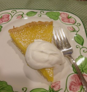 Lemon Tart for dessert