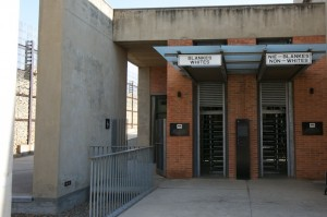 Separate entrances to the Apartheid Museum
