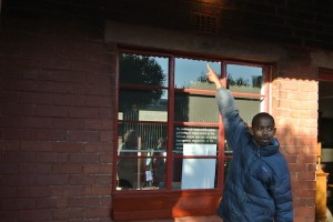 Tour guide at Mandela House