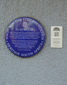 Tutu House placard