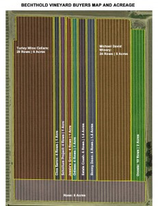 Bechthold Vineyard Buyers Map Acreage Courtesy Michael-David Winery