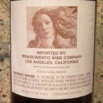Rinascimento Wine Company import label