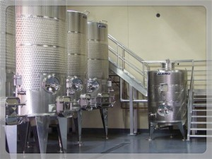 Tank room at Oak Farm Vineyards