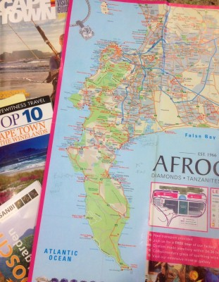 Cape Town map and books