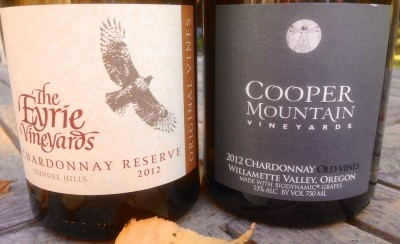 Eyrie Vineyards and Cooper Mtn. Vinyards Chardonnay
