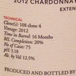 Omero Cellars EE Chard detail