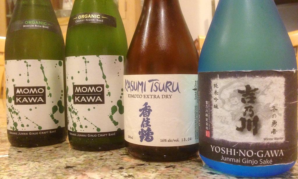 Sake tasting lineup