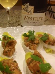 Westrey Chardonnay and Thai chicken