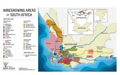 South African Wine Map