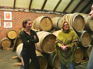 Visiting in the winery