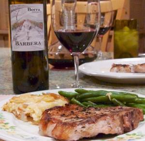 2012 Borra Vineyards Old Vine Barbera with dinner