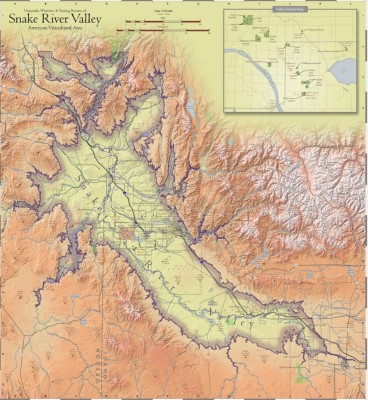 Snake River Valley AVA Map