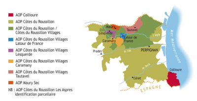 Map of Roussillon