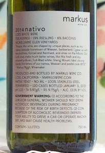 markus nativo back label