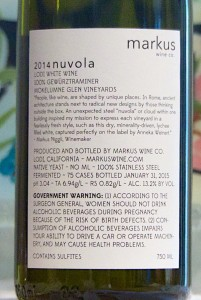 markus nuvola back label
