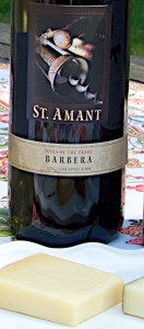 St. Amant Barbera and cheese
